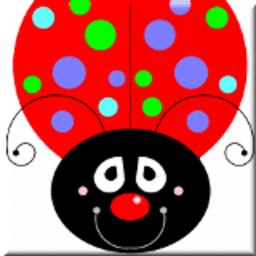 Het lieveheersbeestje met gekleurde punten