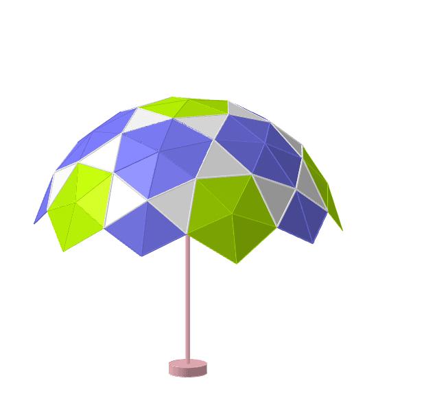 lámpara geodésica 2V generada a partir de un dodecaedro Presiona Intro para comenzar la actividad