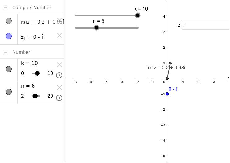 Raíces n-ésimas de un número complejo z Presiona Intro para comenzar la actividad