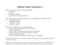 Matière Evaluation 1