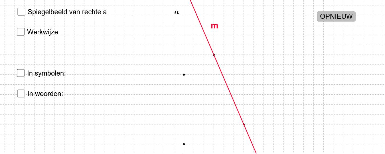 M4 4.3 Beeld van een rechte door een spiegeling Klik op Enter om de activiteit te starten