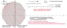Universal geometric constant for regular polys.