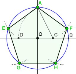 regelmatige vijfhoek