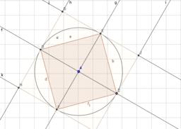 Área cuadrado semidiagonal 3
