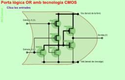 Porta lògica OR amb tecnologia CMOS
