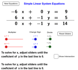 Simple Linear System of Equations