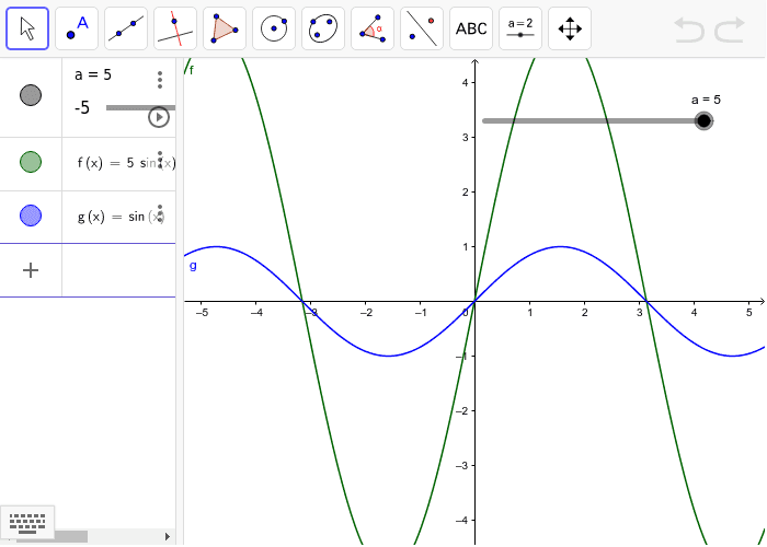 Move the sliders to match the amplitude of the wave