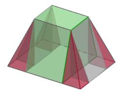Das Volumen eines Pyramidenstumpfs berechnen