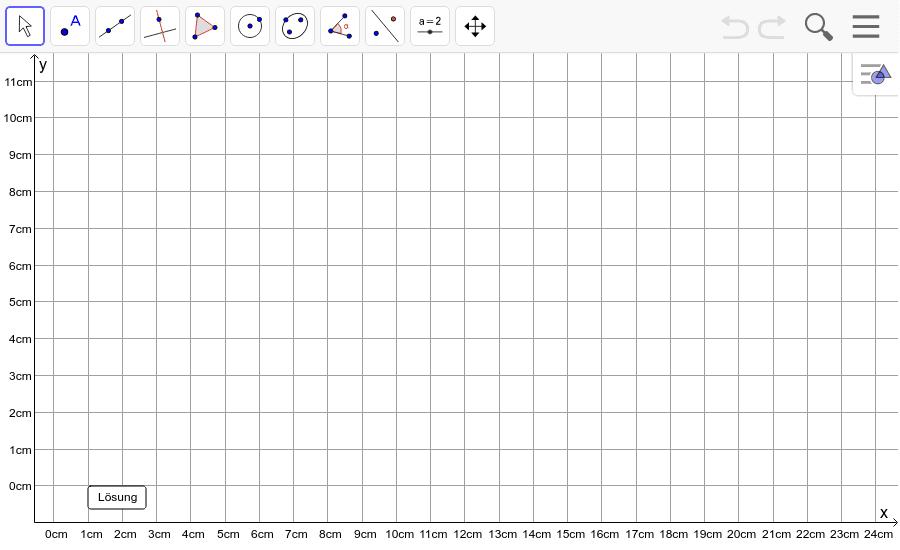 Dreieck 9: A(2/2), B(11/1), C(8/5): Zeichne das Dreieck und konstruiere den Umkreis. Füge den Screenshot der Koordinaten von U im Auftrag in Teams ein! Drücke die Eingabetaste um die Aktivität zu starten