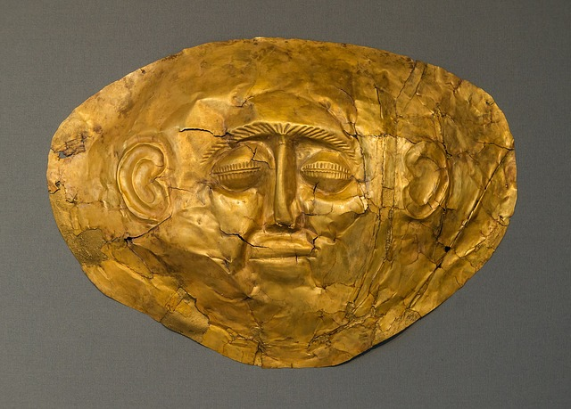 Maschera funebre in oro - Micene