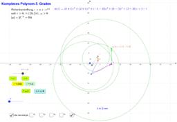 Komplexes Polynom 5. Grades