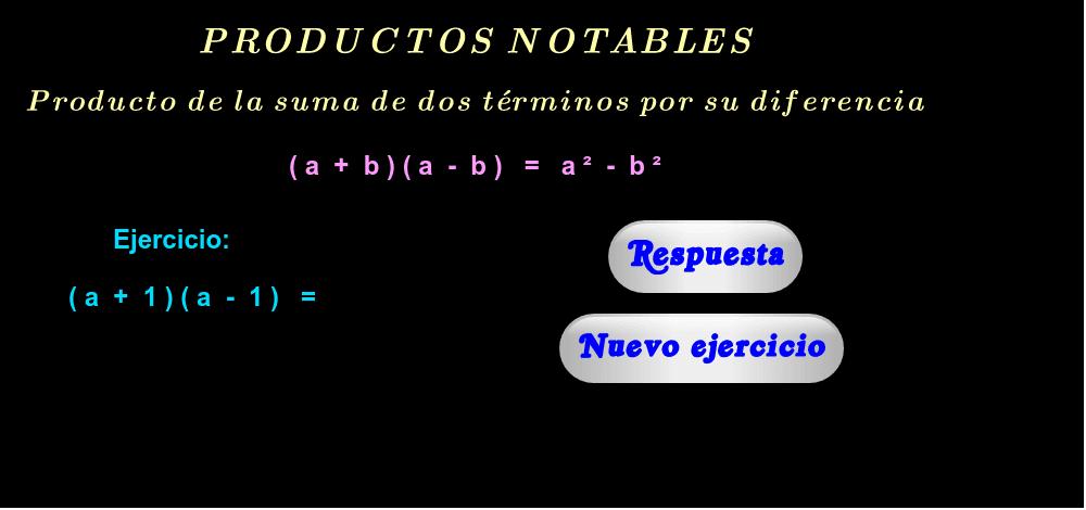"""Ejercicios ( haga click en """"Respuesta"""" y """"Nuevo ejercicio"""" )."""