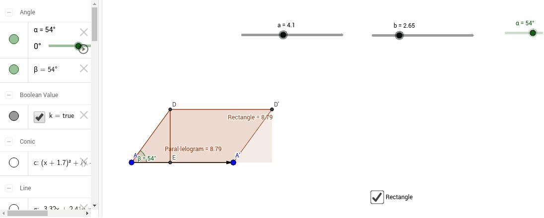 Àrea paral·lelogram a partir d'un rectangle.