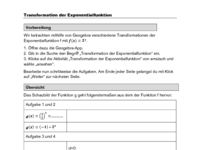 Transformation der Exponentialfunktion