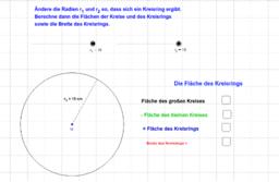 Die Fläche des Kreisrings