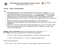 Activity - Linear Transformations - Part 1 and Part 2.pdf
