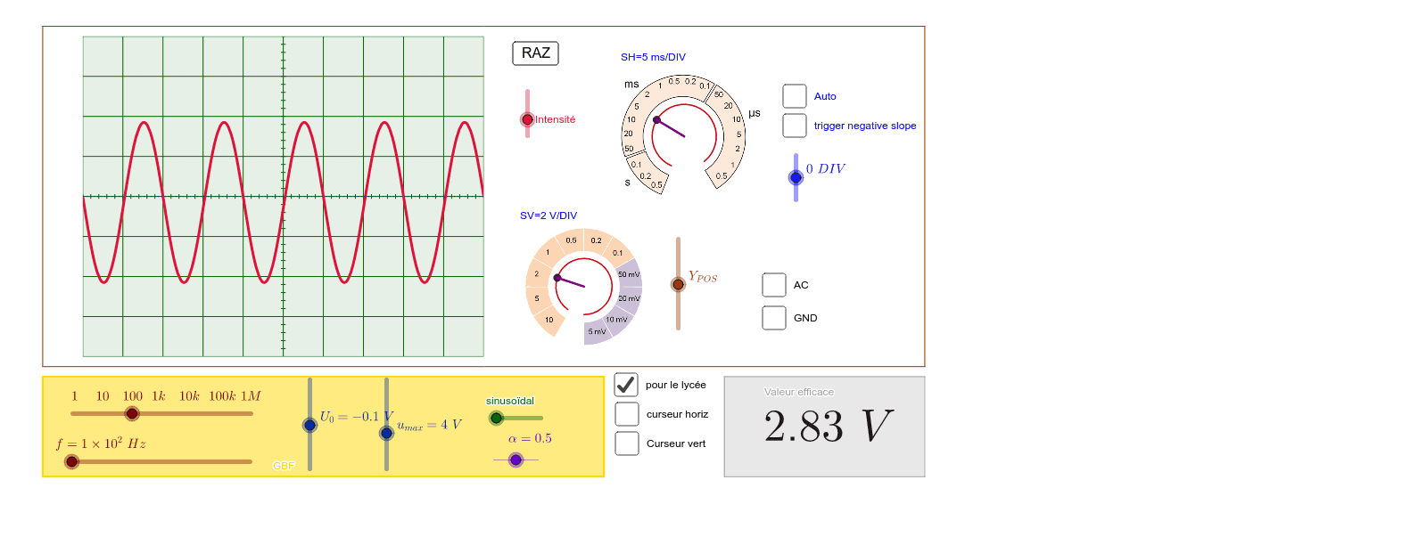 Oscilloscope Press Enter to start activity