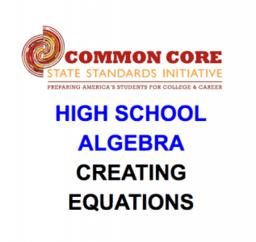 CCSS High School: Algebra (Creating Equations)