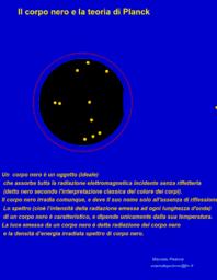 Il corpo nero e la teoria di Planck