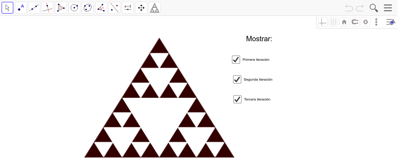 Triángulo de Sierpinski Presiona Intro para comenzar la actividad