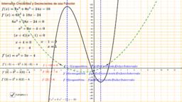 Intervalos crecientes y decrecientes de una función