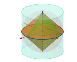 Cono, esfera, cilindro y pirámide