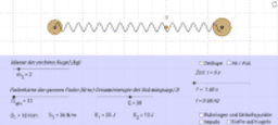 harmonische Schwingung zweier Körper (Streckschwingung)