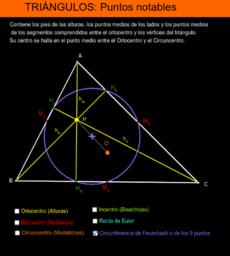 Triángulos: puntos y rectas notables.