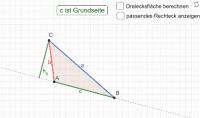Die drei Höhen im Dreieck zur Flächenberechnung