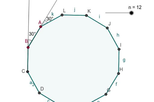 Exterior angles of a regular polygon geogebra - Exterior angle of a regular polygon ...