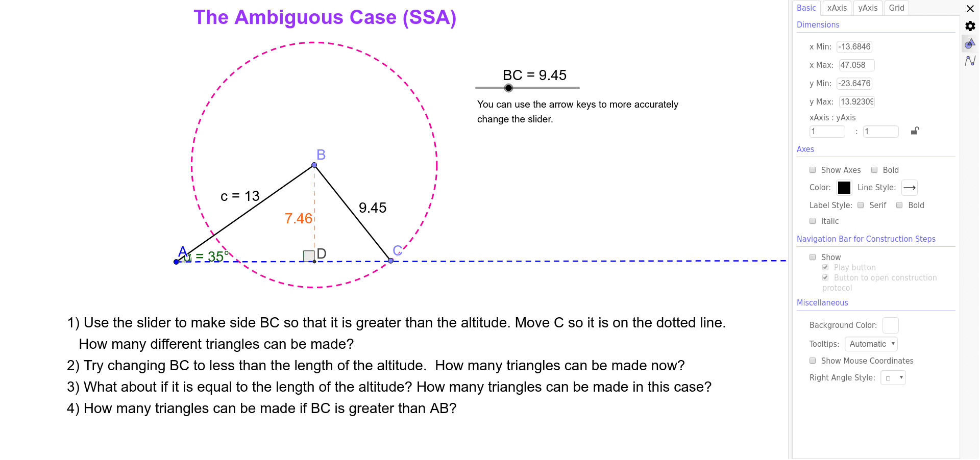 how to solve ssa ambiguous case