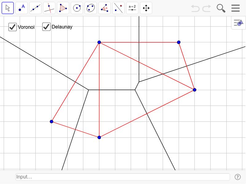 Voronoi Diagram Of 5 Points Geogebra
