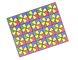 Pythagorean Theorem by Tessellation # 77 Tiling