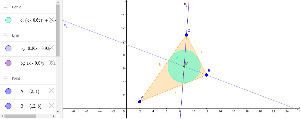 Circunferencias en un Triángulo