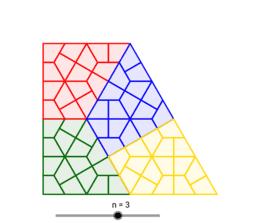 Rep-Tile quadrilatère à quatre pièces