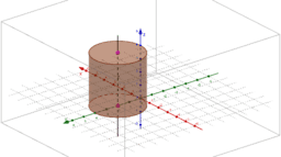 To display cylinder with given axis and radius