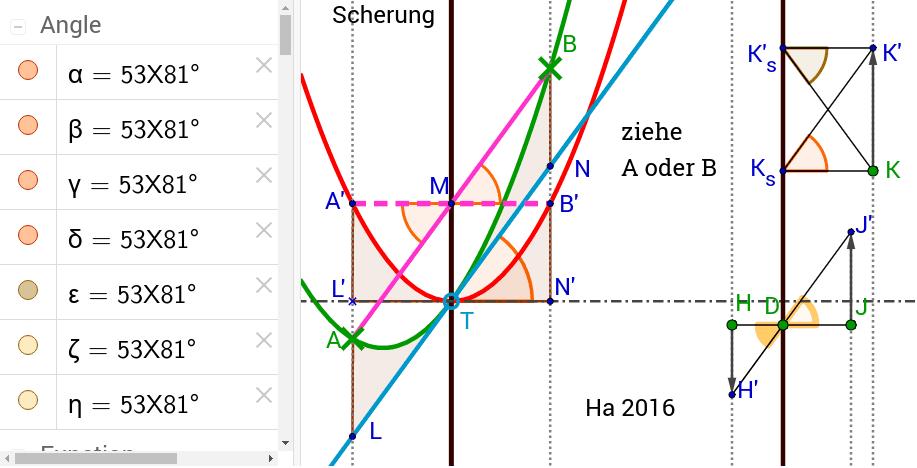 Rechnerisch wird eine solche Scherung durch die Addition eines linearen Terms verwirklicht.