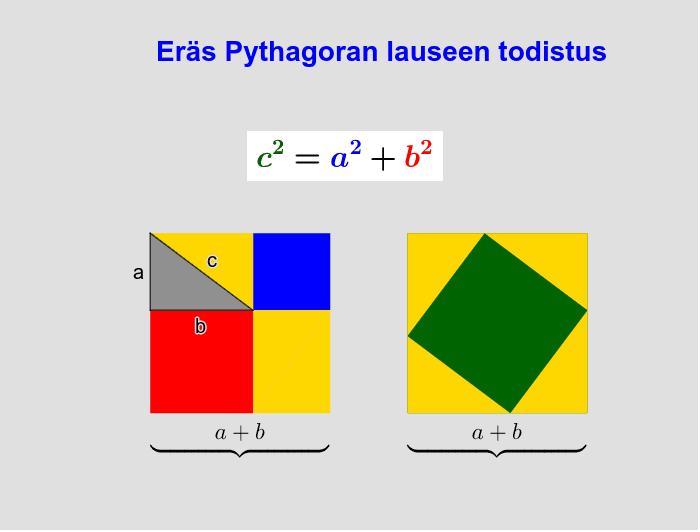 Pythagoraan lause Paina Enter aloittaaksesi