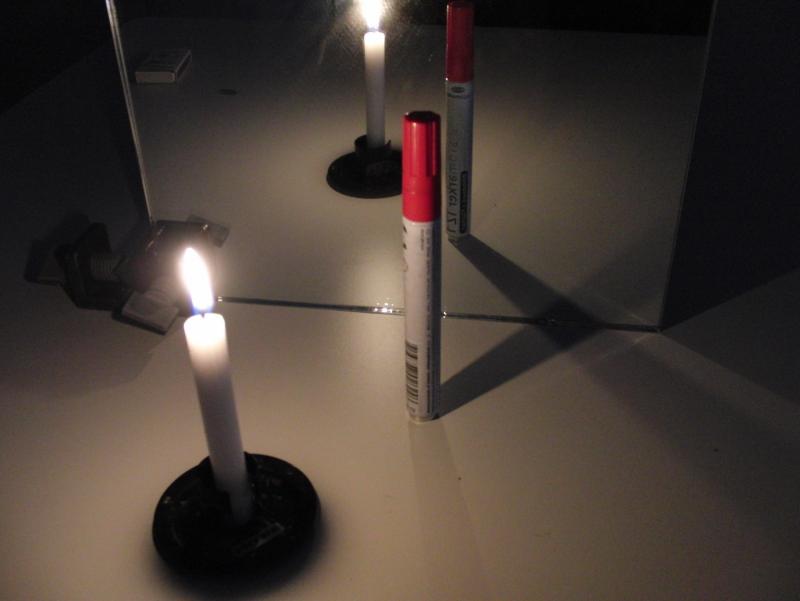 Abb.1: Spiegelbilder – jeder Kundige deutet sie mit dem Reflexionsgesetz und verwendet dabei das Strahlenmodell vom Licht.