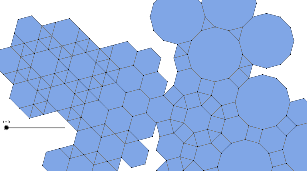 Duality with triangles, hexagons, squares, dodecagons