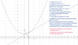 Costruzione della parabola con riga e compasso - 2° metodo