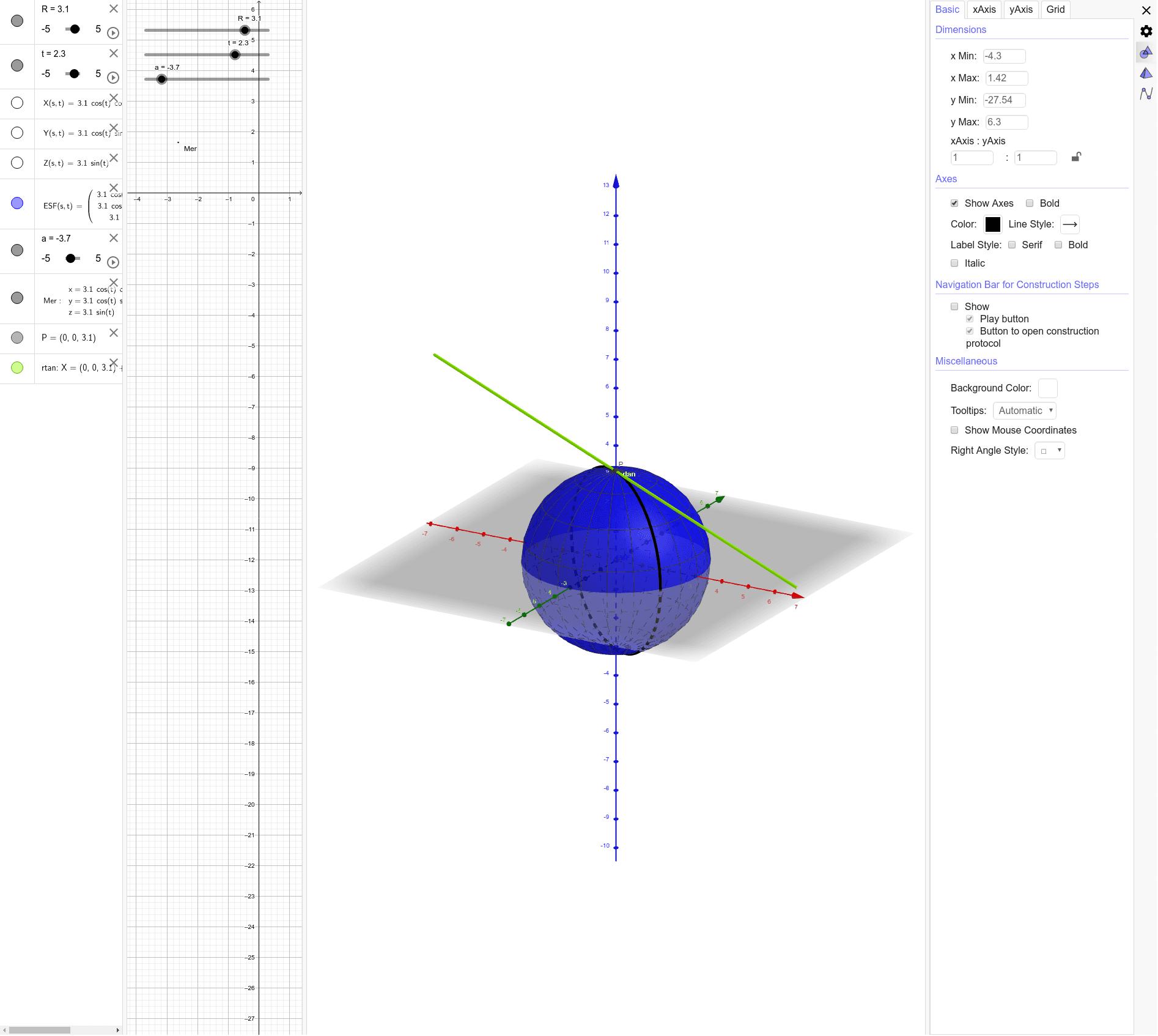 Esfera - Generació del pla tangent