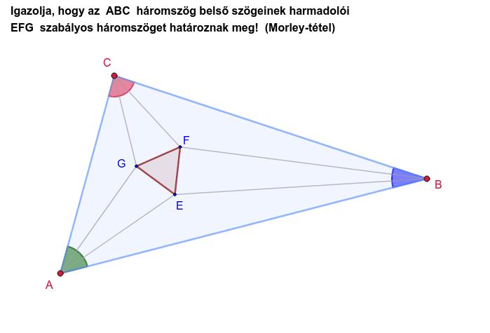 Az  A, B, C  pont mozgatható.