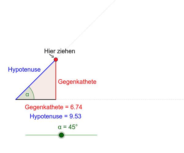 Längen am rechtwinkligen Dreieck Drücke die Eingabetaste um die Aktivität zu starten