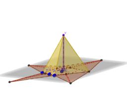 Piramide che ha per base un trapezio circoscritto