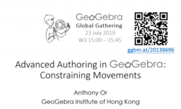 Advanced Authoring in GeoGebra: Constraining Movements