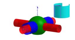 3D  sfera cilindro