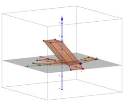hranol zkosený podstava čtverec