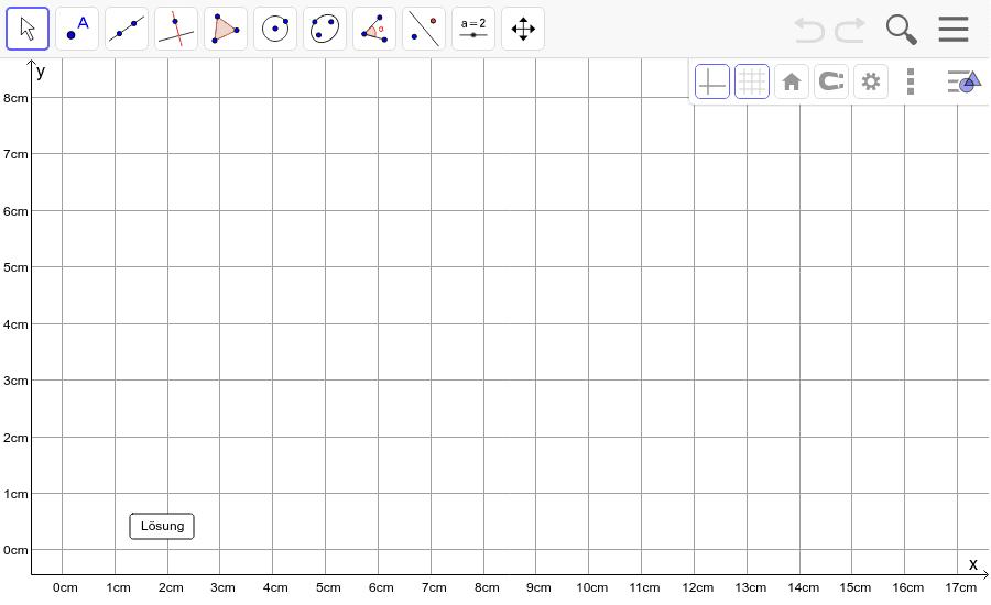 Dreieck 10: A(6/0), B(12/1), C(8/5): Zeichne das Dreieck und konstruiere den Schwerpunkt S. Füge den Screenshot der Koordinaten von S im Auftrag in Teams ein! Drücke die Eingabetaste um die Aktivität zu starten