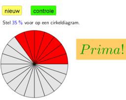 oef 2 cirkeldiagram